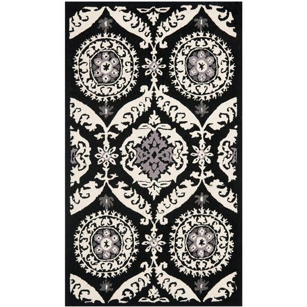 "Safavieh Chelsea Decorative Rug - 2' 9"" x 4' 9"" - Black/Ivory"