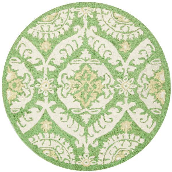 Safavieh Chelsea Round Rug - 3' x 3' - Green/Beige