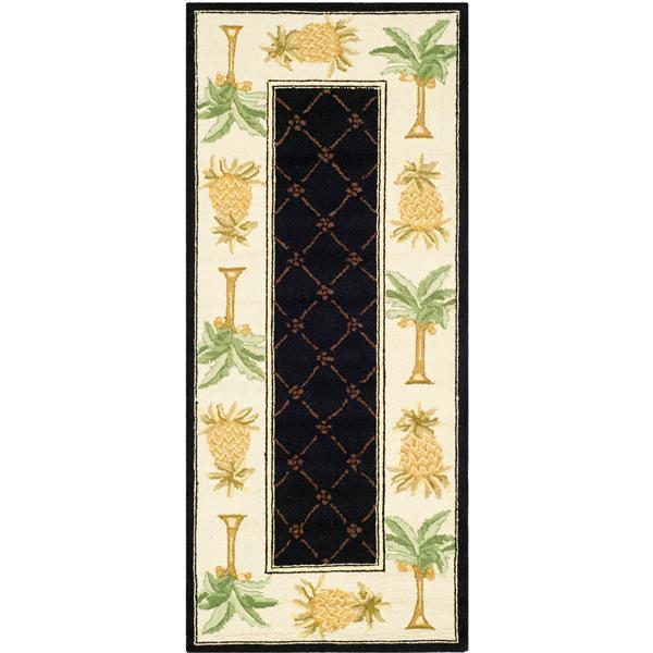 "Safavieh Chelsea Decorative Rug - 2 ' 6"" x 8' - Black/Ivory"