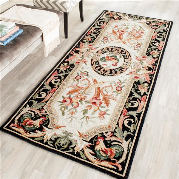 "Safavieh Chelsea Decorative Rug  - 2' 6"" x 8' - Ivory/Black"