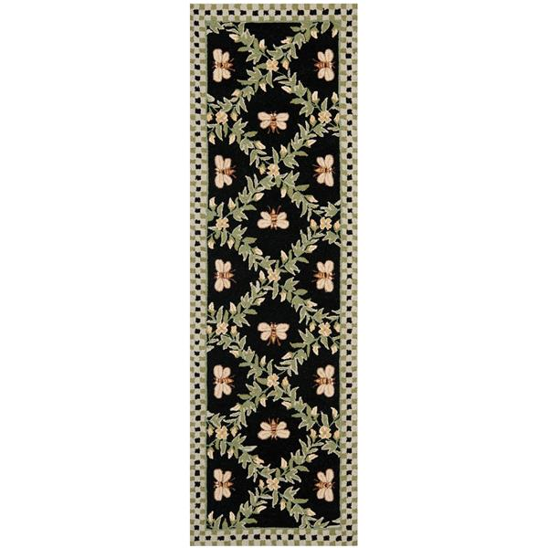 "Safavieh Chelsea Decorative Rug - 2' 6"" x 8' - Black"
