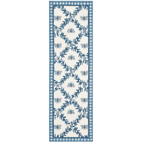 "Safavieh Chelsea Decorative Rug - 2' 6"" x 6' - Ivory/Blue"