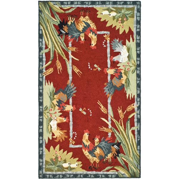 "Safavieh Chelsea Decorative Rug - 2' 9"" x 4' 9""- Burgundy"