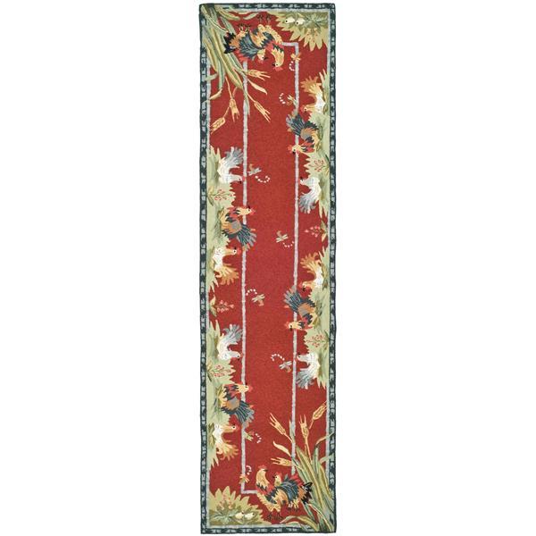 "Safavieh Chelsea Decorative Rug - 2' 6"" x 8' - Burgundy"