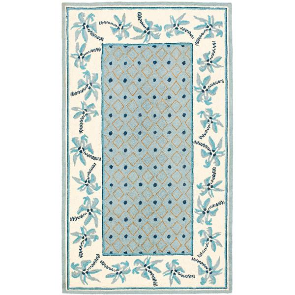 "Safavieh Chelsea Decorative Rug  - 1' 8"" x 2' 6"" - Blue/Ivory"