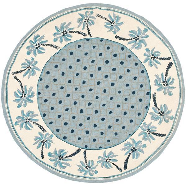 Safavieh Chelsea Round Rug - 3' x 3' - Blue/Ivory