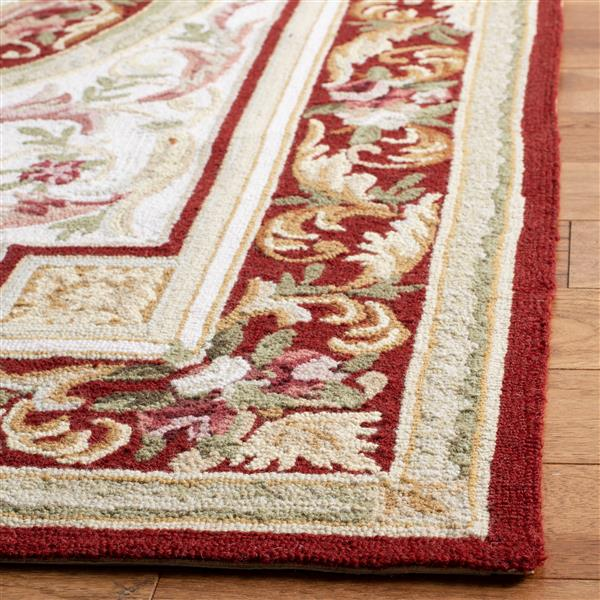 "Safavieh Chelsea Decorative Rug  - 2' 6"" x 4' - Ivory/Burgundy"