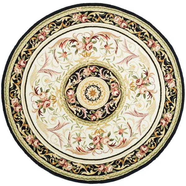 Safavieh Chelsea Decorative Rug - 3' x 3' - Ivory/Black