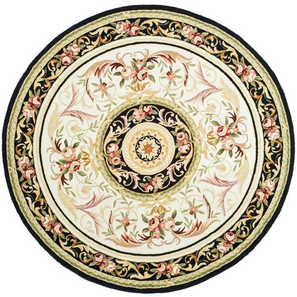 Safavieh Chelsea Decorative Rug - 4' x 4' - Ivory/Black