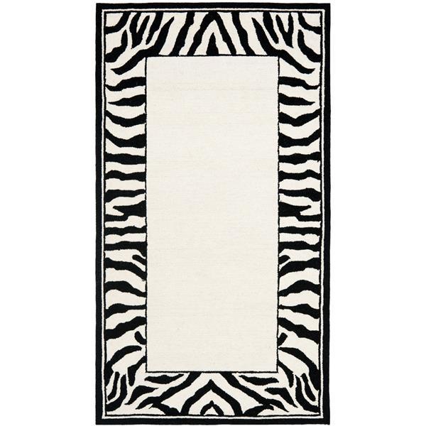"Safavieh Chelsea Decorative Rug - 2' 6"" x 4' - Ivory/Black"
