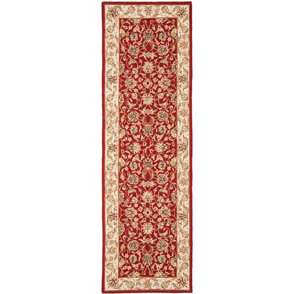 "Safavieh Chelsea Decorative Rug - 2' 6"" x 8' - Burgundy/Ivory"