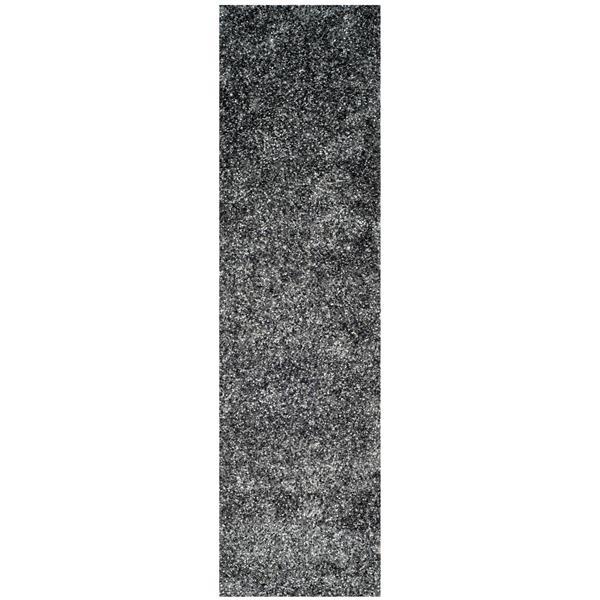 "Safavieh Malibu Shag Rug - 2' 3"" x 9' - Charcoal"