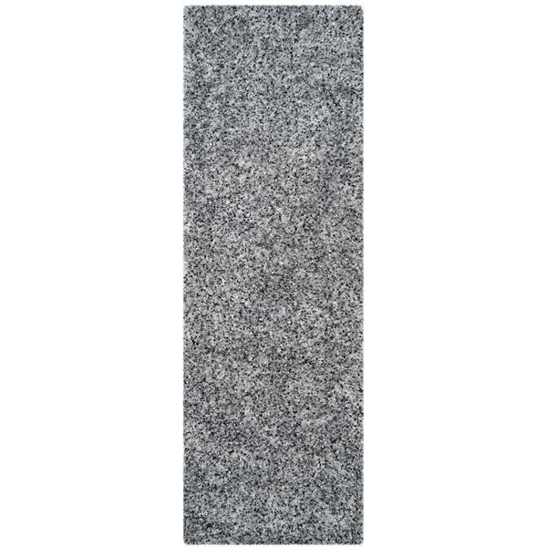 "Safavieh Malibu Shag Rug - 2' 3"" x 9' - Silver"