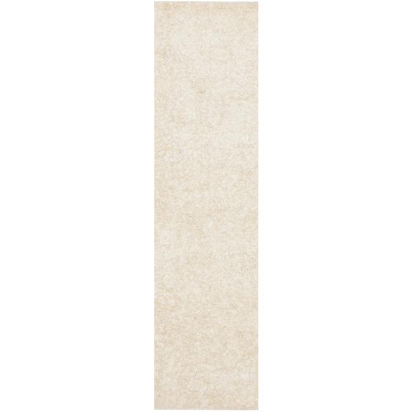 "Safavieh Malibu Shag Rug - 2' 3"" x 9' - White"
