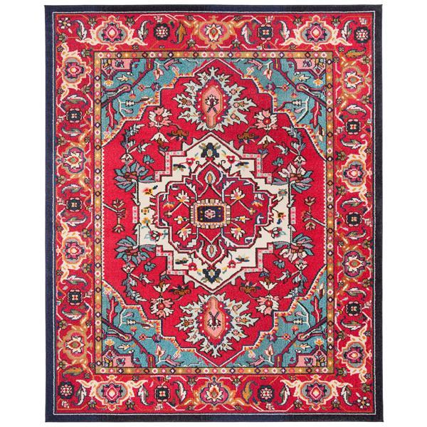 Safavieh Monaco Decorative  Rug - 12' x 18' - Red/Turquoise