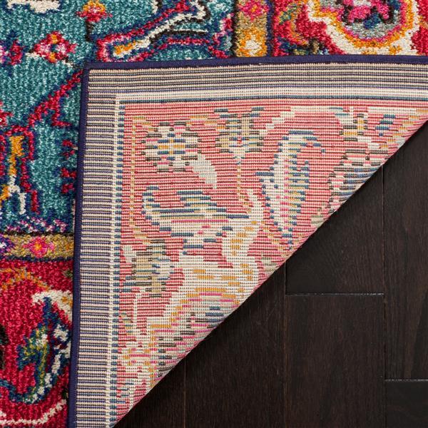 "Safavieh Monaco Decorative  Rug - 2' 2"" x 10' - Red/Turquoise"