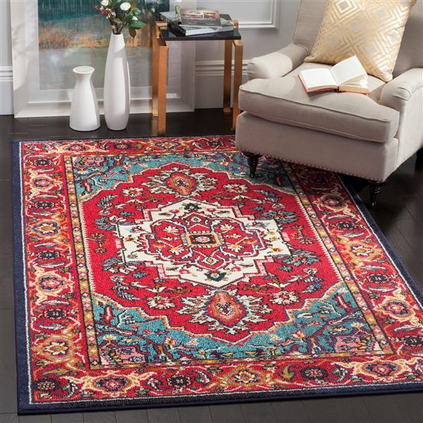 "Safavieh Monaco Decorative  Rug - 2' 2"" x 4' - Red/Turquoise"