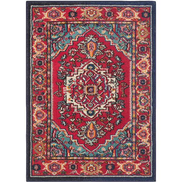 Safavieh Monaco Decorative  Rug - 3' x 6'- Red/Turquoise