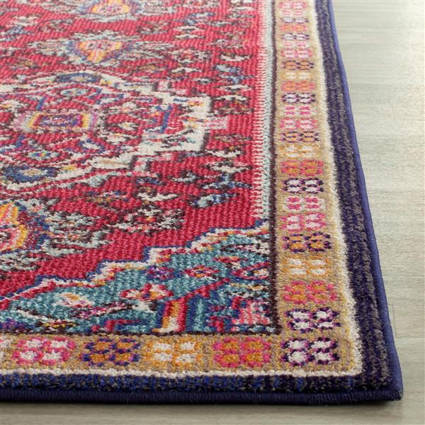 "Safavieh Monaco Decorative  Rug - 4' x 6' 7"" - Red/Turquoise"