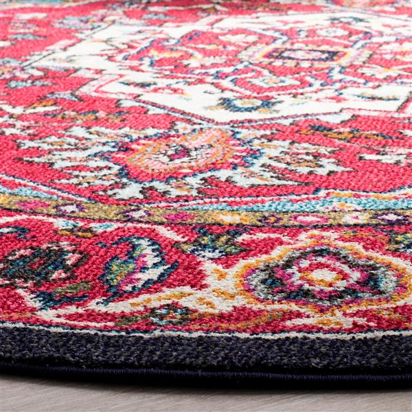 Safavieh Monaco Round Rug - 6' x 6' - Red/Turquoise