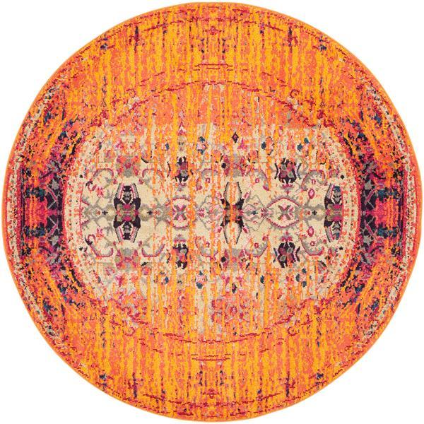 Safavieh Monaco Round Rug - 6' x 6' - Orange
