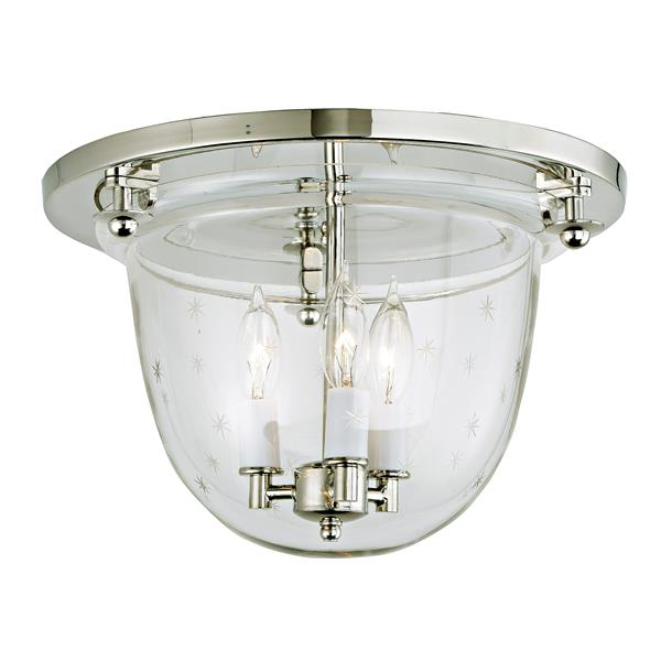 JVI Designs Classic flush mount bell lantern with tiny star glass