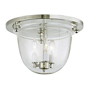 JVI Designs Classic flush mount bell lantern with clear glass