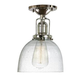 JVI Designs Union Square One Light Clear Bubble Madison Ceiling Mount