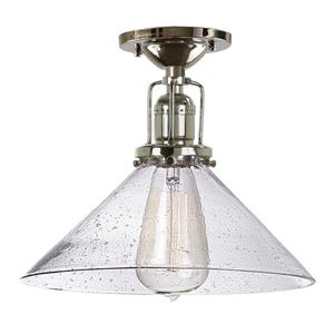 Union Square One Light Clear Bubble Bailey Ceiling Mount