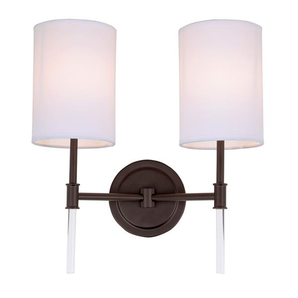JVI Designs Hudson two light wall sconce - Bronze - 14.75-in x 13.5-in