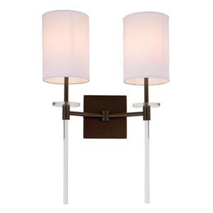 JVI Designs Sutton two light wall sconce - Bronze - 20-in x 13.5-in