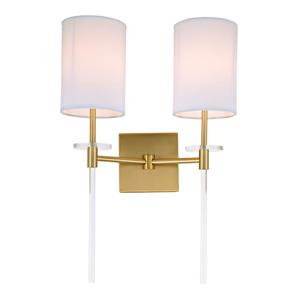 JVI Designs Sutton two light wall sconce - Brass - 20-in x 13.5-in
