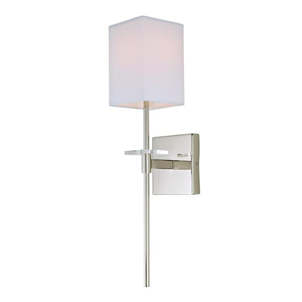 JVI Designs Marcus one light wall sconce - Polished Nickel - 20.5-in