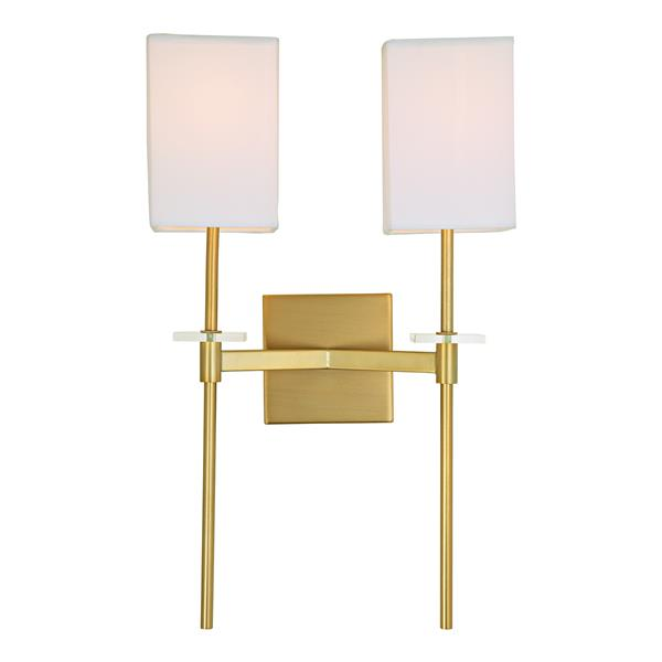 JVI Designs Marcus two light wall sconce - Brass - 20.5-in x 13-in