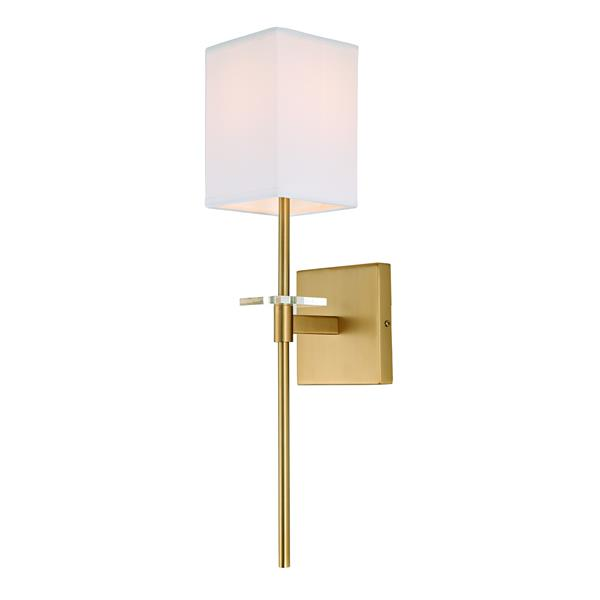 JVI Designs Marcus one light wall sconce - Brass - 20.5-in