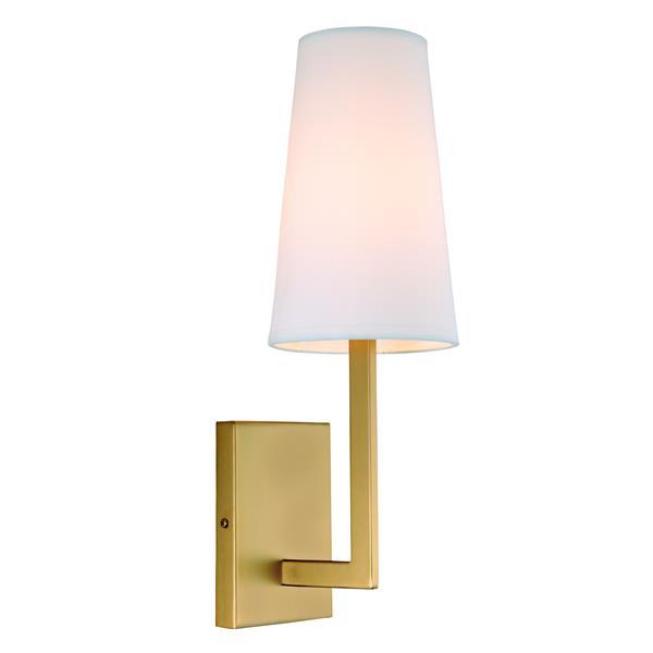 JVI Designs Sullivan one light wall sconce - Brass - 17-in x 5.5-in