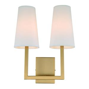 JVI Designs Sullivan two light wall sconce - Brass - 17-in