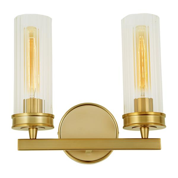 JVI Designs Hamilton two light wall sconce - Brass - 11.7-in
