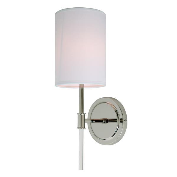 JVI Designs Hudson one light wall sconce - Polished Nickel - 14.5-in