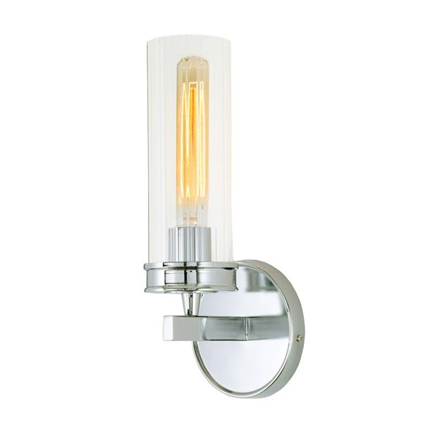 JVI Designs Hamilton one light wall sconce - Chrome - 13-in