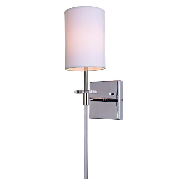JVI Designs Sutton one light wall sconce - Polished Nickel - 20.5-in x 5-in