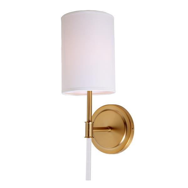 JVI Designs Hudson one light wall sconce - Brass- 14.5-in x 5-in