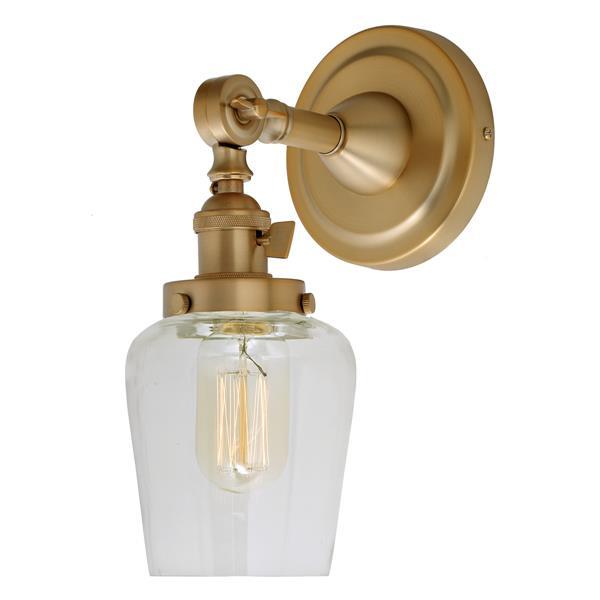 JVI Designs Soho one light swivel Liberty wall sconce - Brass - 11.5-in