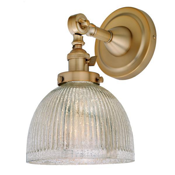 JVI Designs One light swivel mercury Madison wall sconce -Brass - 11.5-in