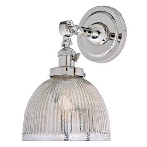 One light swivel mercury Madison wall sconce -Nickel - 11.5
