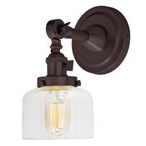 JVI Designs Soho one light swivel Shyra wall sconce - Bronze - 10-in