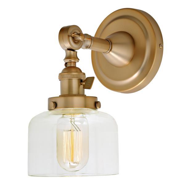 JVI Designs Soho one light swivel Shyra wall sconce - Brass - 10-in