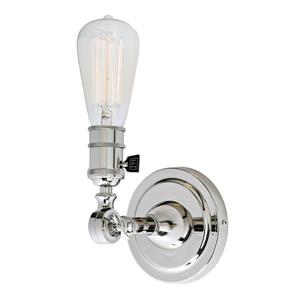 JVI Designs Soho one light swivel wall sconce - Chrome - 7-in