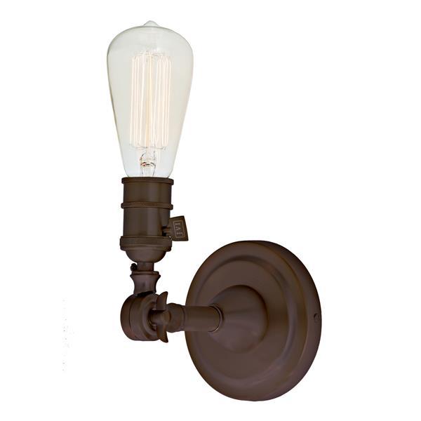 JVI Designs Soho one light swivel wall sconce - Bronze - 7-in