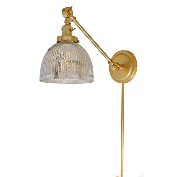 JVI Designs One light double swivel mercury Madison wall sconce - Brass
